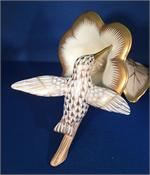 Herend Guild - Limited Edition Hummingbird, Gold Fishnet