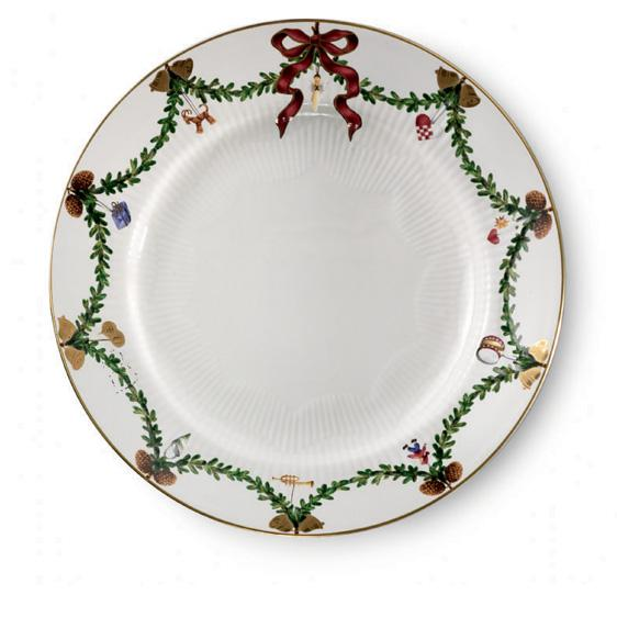 Royal Copenhagen - Star Fluted Christmas, Dinner Plate at ...