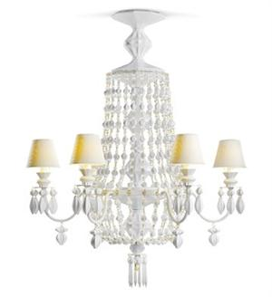 Lladro - Winter Palace Chandelier 6 lights (White) US