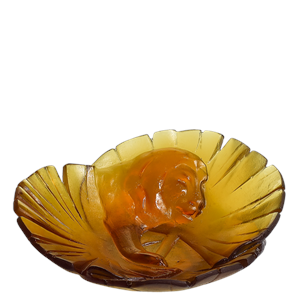 Daum Crystal - Lion Bowl - 03929