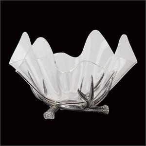 "Arthur Court - Antler Stand W/14"" Acrylic Bowl"