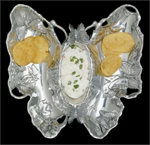 "Arthur Court ""Butterfly Chip & Dip Tray"""