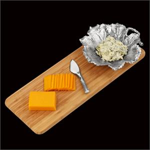 Arthur Court - Grape Leaf Bamboo Cheese Set