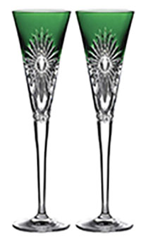 2021 Waterford - Times Square Flute Emerald, Pair
