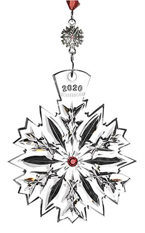 Waterford - 2020 Snowflake Wishes Love Ornament