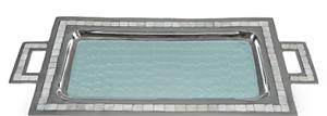 "Julia Knight - Classic Rectangular Tray with Handles, 25"", Aqua"