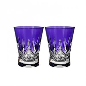 Waterford - Lismore Pops Purple Double Old Fashioned, Pair