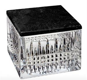 Waterford - Lismore Diamond Covered Box w/ Marble Lid