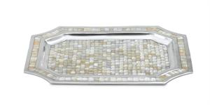 Julia Knight Classic 20 in. Octagonal Tray - Full Mother of Pearl