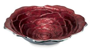 "Rose 15"" Bowl - Pomegranate"