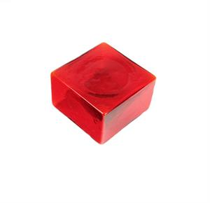 Viz Art Glass - Wall Art Red Color Cube - Set of 4
