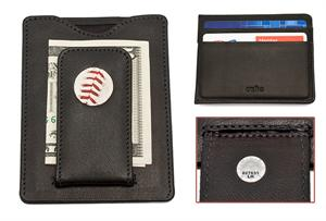 Tokens & Icons - Red Sox Baseball Money Clip Wallet