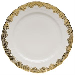 Herend - Fish Scale Service Plate / Gold