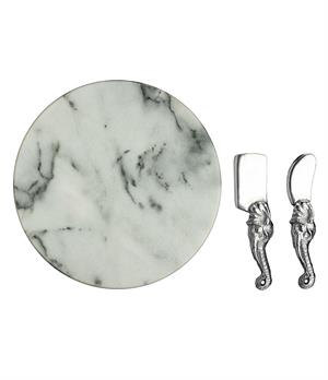 Arthur Court - Elephant Marble Cheese Set