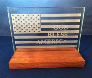 American Flag Plaque - God Bless America