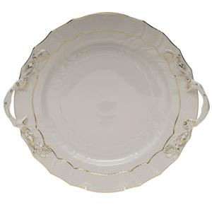Herend - Golden Edge - Chop Plate with Handles