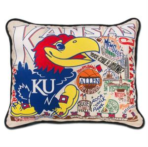 Catstudio - University of Kansas Embroidered Pillow