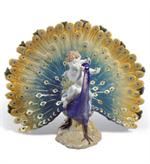 Lladro - Cherub on a Peacock