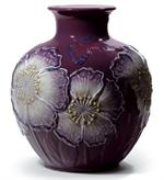 Llardo, Poppy Flowers Vase (purple)