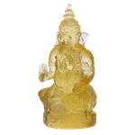 Daum Crystal - Small Gold Ganesha - 01282-5