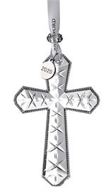 2020 Waterford - Cross Ornament 4.2
