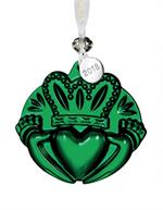 Waterford - Claddagh Ornament Green