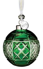 Waterford - Emerald Ball Ornament