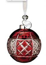Waterford - Ruby Ball Ornament