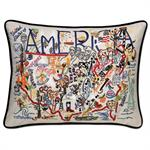 Catstudio - America Hand-Embroidered Pillow