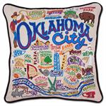 Catstudio - Oklahoma City Hand-Embroidered Pillow