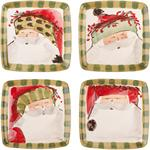 Vietri - Old St. Nick Assorted Sqare Salad Plate