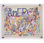 Catstudio - America Embroidered Panel