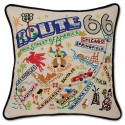 Catstudio - ROUTE 66 Hand-Embroidered Pillow